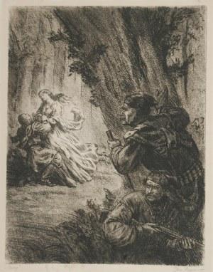 Jerzy HOPPEN (1891-1969), Czaty (ilustracja do ballady Adama Mickiewicza), 1955