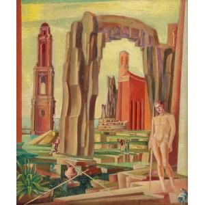 Jan KACZMARKIEWICZ (1904-1989), Akt na tle architektury