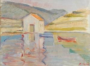 Maurycy BLOND (1899-1974), Łodzie na przystani