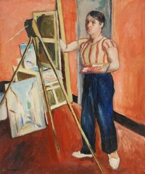 Szymon MONDZAIN (1890-1979), Autoportret przy sztaludze, l. 20 XX