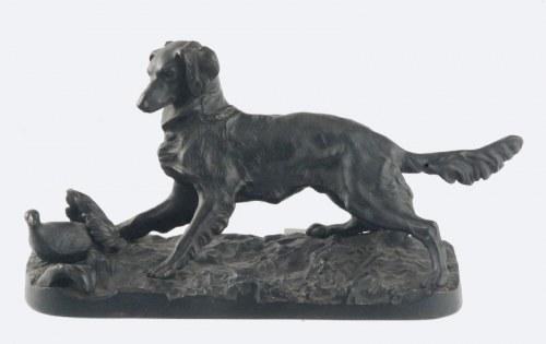 Figura psa polującego na ptactwo