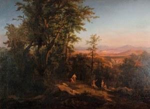 Józef BRODOWSKI (1828-1900), Pejzaż krakowski od strony Krzemionek, 1859