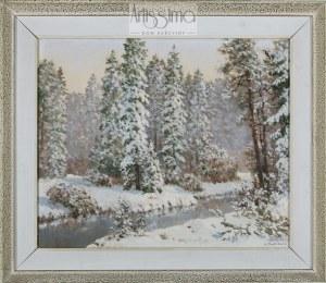 Konstanty Mackiewicz (1894–1985), Pejzaż zimowy z rzeką*