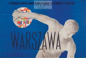 Tadeusz Trepkowski (1914–1954), Plakat II rencontres sportives amicales internationales de la jeunesse 1-4 août Warszawa, 1955