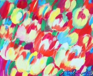 Beata Murawska (ur. 1963, Warszawa), Happy tulips, 2018 r.