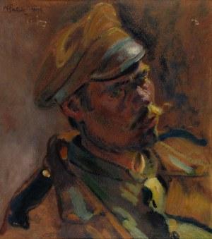 Fryderyk PAUTSCH (1877-1950), Studium głowy żołnierza, 1915