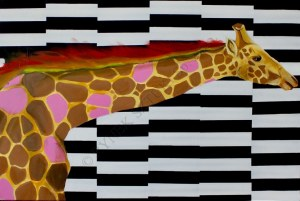 Sławomir Danielski, Płonąca żyrafa (2018)