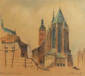 Jan RUBCZAK (1884-1942), Prezbiterium Kościoła Mariackiego w Krakowie, 1935
