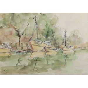 Henryk SAJDAK (1905-1995), Port morski w Łebie, lata 70. XX w.