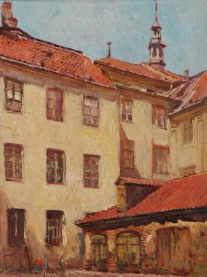 Tadeusz CIEŚLEWSKI (1870-1956), Stare Miasto w Warszawie, 1915