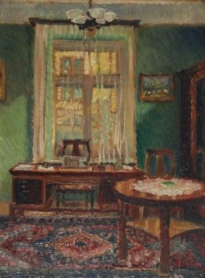 Henryk DIETRICH (1889-1948), Wnętrze gabinetu, 1934