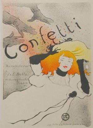Henri De TOULOUSE- LAUTREC (1864-1901) - według, Confetti
