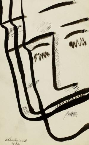 Zbigniew KALISZCZAK, GŁOWA Z ZAMKNIĘTYMI OCZAMI, 1932
