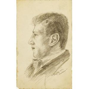 Zbigniew KALISZCZAK, MĘŻCZYZNA W MUSZCE, 1921