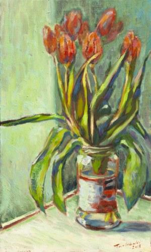 Piotr Pachecki, Czerwone tulipany, 2018