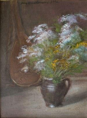 Jerzy Gnatowski (1928-2012), Kwiaty w wazonie (1992)
