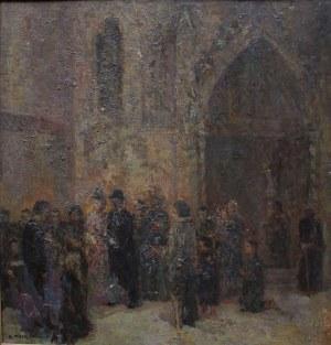 Konstanty Mackiewicz (1894-1985), Młoda para przed katedrą