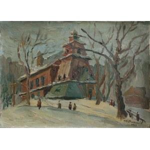 Edward Matuszczak (1906-1965), W drodze do kościoła (1947)