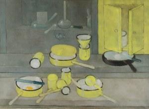 Kiejstut BEREŹNICKI (ur. 1935), Martwa natura z żółtymi naczyniami, 1997