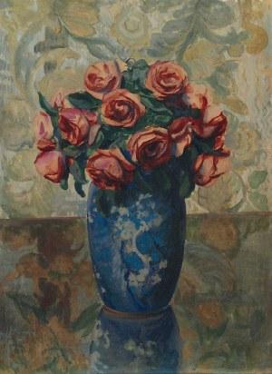 Teodor GROTT (1884-1972), Róże w wazonie, 1906