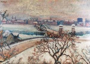 Fryderyk PAUTSCH (1877-1950), Kraków zimą - widok na most, 1925