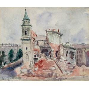 Maria KOMIEROWSKA (1913-1972), Ruiny kościoła Św. Aleksandra w Warszawie, 1945