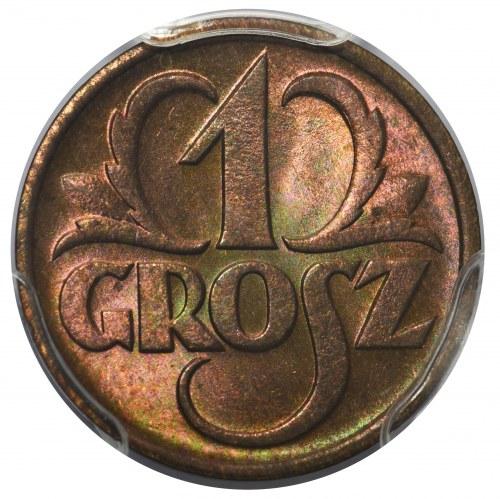 1 grosz 1938 - PCGS MS66 RB
