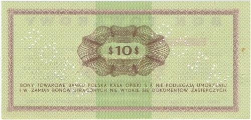 Pewex Bon Towarowy 10 dolarów 1969 WZÓR -Ef- NIEZNANY