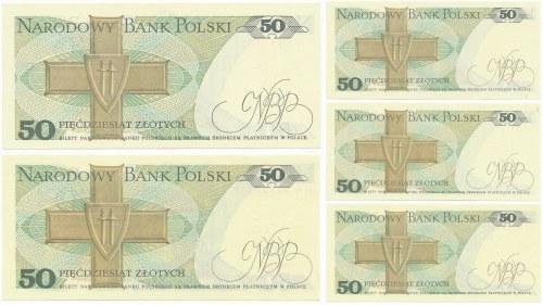 Zestaw - 50 złotych 1988 -HN- numery radarowe (4szt.)