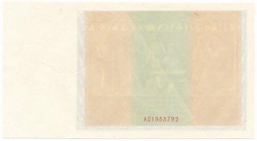 50 złotych 1936 - awers bez głównego druku