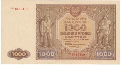 1.000 złotych 1946 -W- rzadsza odmiana