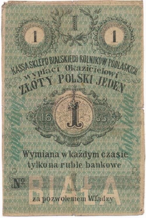 Biała Podlaska - 1 złoty 1865 - RZADKIE