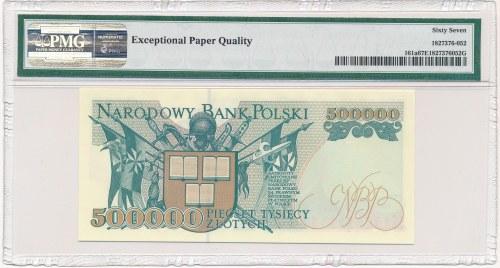 500.000 złotych 1993 -Z- PMG 67 EPQ