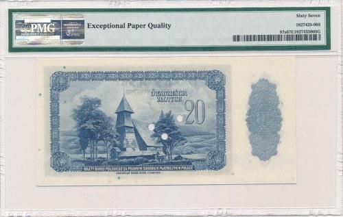 20 złotych 1939 SPECIMEN -00000- PMG 67 EPQ