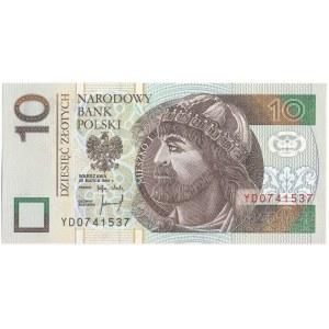 10 złotych 1994 -YD- seria zastępcza