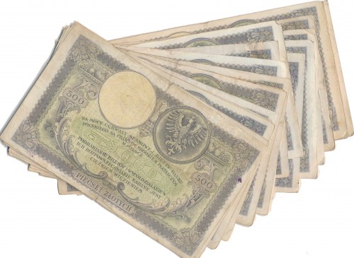 500 złotych 1919 - zestaw (20szt.)