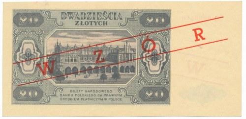 20 złotych 1948 WZÓR OO 0000000 - DUŻA RZADKOŚĆ