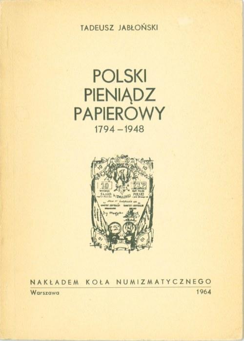 Polski pieniądz papierowy 1796-1948, Jabłoński, Warszawa 1964