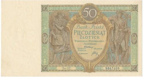 50 złotych 1929 Ser.B.E. - WYŚMIENITA I RZADKA