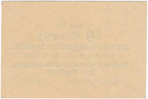 Posen - Posener Beamten-Vereinigung - 10 Pfg. 1917