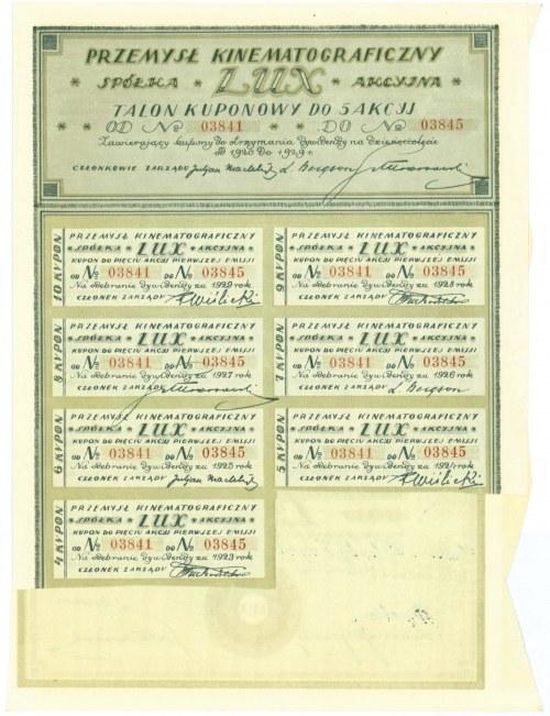 Przemysł Kinematograficzny LUX Spółka Akcyjna, Em.1, 5x500 marek 1920