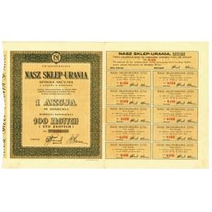 NASZ SKLEP-URANIA, Em.1, 100 złotych 1931