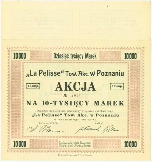 LA PELISSE Tow. Akc. w Poznaniu, Em.1, 10.000 marek 1923