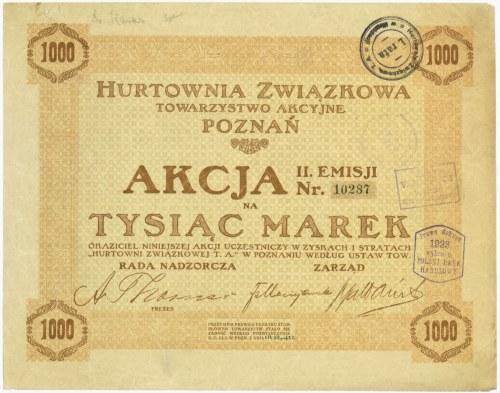 Hurtownia Związkowa Towarzystwo Akcyjne Poznań, Em.2, 1.000 marek 1920