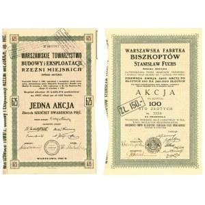 Warszawskie Rzeźnie Miejskie i Warszawska Fabryka Biszkoptów Stanisław Fuchs (2szt)