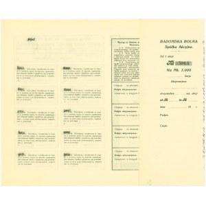 Radomska Rolna, 5000 marek 1922 II seria