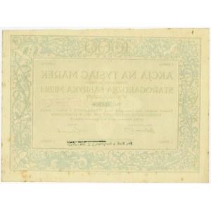 Starogardzka Fabryka Mebli w Starogardzie, Em.1, 1.000 marek 1921