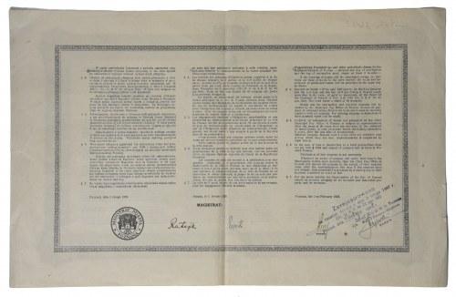 Obligacja Miasta Poznania na 100 złotych 1927