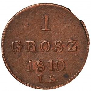 Księstwo Warszawskie, 1 grosz 1810 I.S