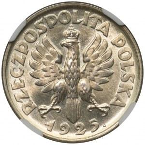 Kobieta i kłosy 1 złoty 1925 - NGC MS63